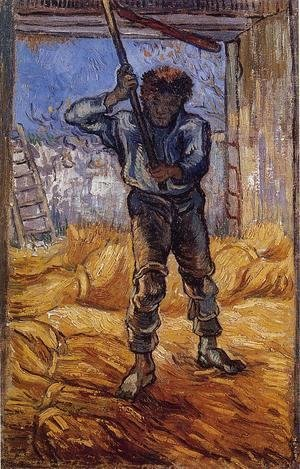 Vincent Van Gogh - The Thrasher (after Millet)