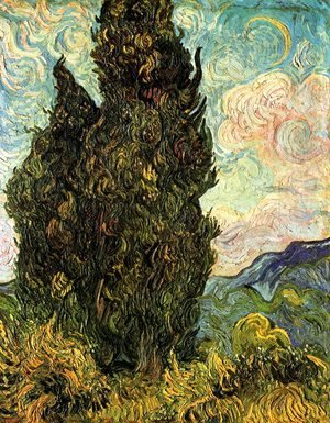 Vincent Van Gogh - Two Cypresses