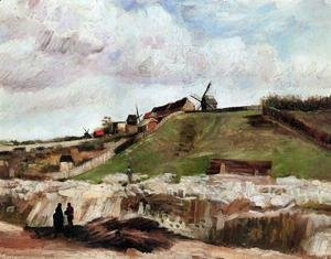 Vincent Van Gogh - Montmartre: the Quarry and Windmills