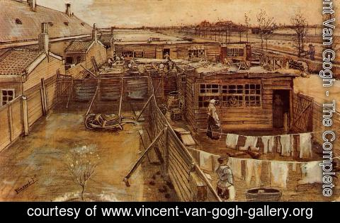 Vincent Van Gogh - Carpenter's Workshop, Seen from the Artist's Studio