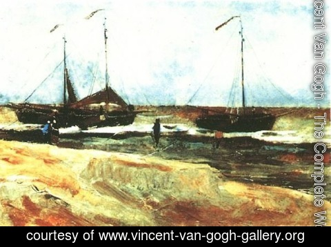 Vincent Van Gogh - The Beach at Scheveningen in Calm Weather