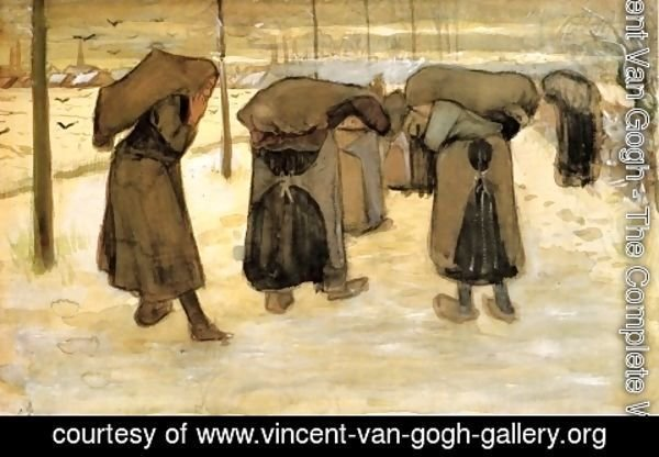 Vincent Van Gogh - Woman Miners Carrying Coal