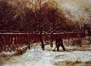 Vincent Van Gogh - The Parsonage Garden at Nuenen in the Snow 2
