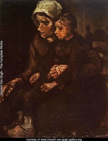 Peasant Woman with a Child in Her Lap