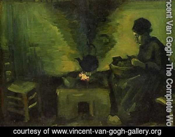 Vincent Van Gogh - Peasant Woman by the Fireplace 2
