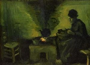 Peasant Woman by the Fireplace 2