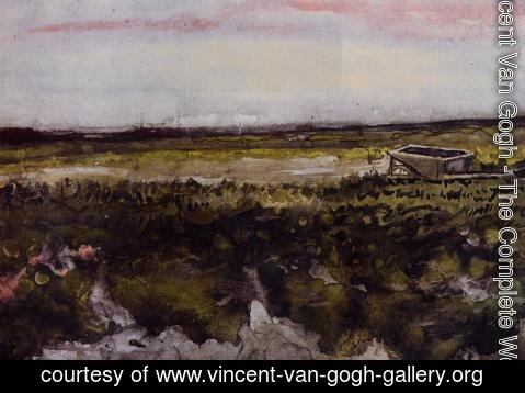 Vincent Van Gogh - The Heath with a Wheelbarrow