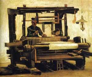 Vincent Van Gogh - Weaver, seen from the Front