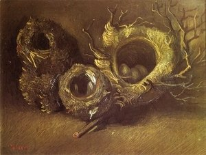 Vincent Van Gogh - Still Life with Three Birds' Nests