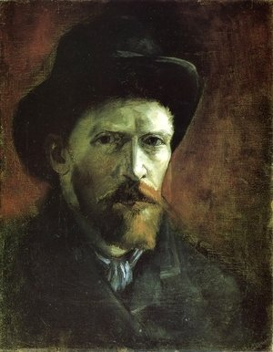 Vincent Van Gogh - Self Portrait in a Dark Felt Hat