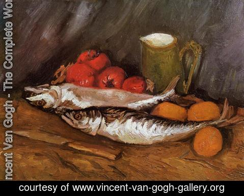 Vincent Van Gogh - Still Life with Mackerels, Lemons and Tomatoes