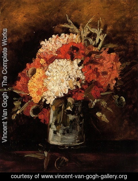 Vincent Van Gogh - Vase with Carnations 2