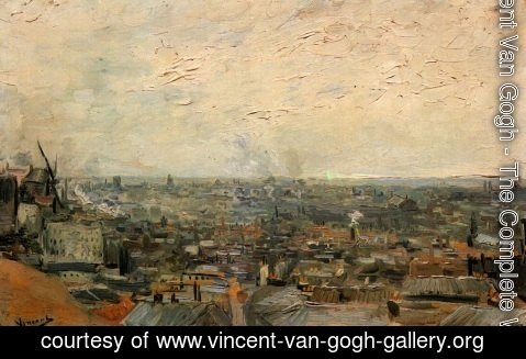 Vincent Van Gogh - View of Paris from Montmartre 2