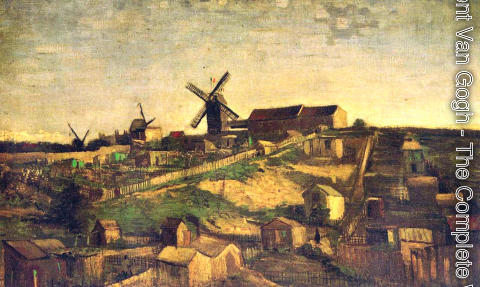 Vincent Van Gogh - Montmartre: the Quarry and Windmills 2
