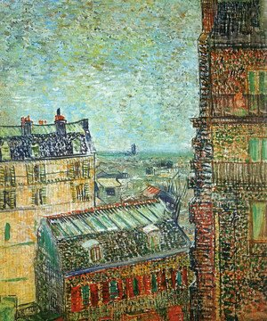 Vincent Van Gogh - View of Paris from Vincent's Room in the Rue Lepic