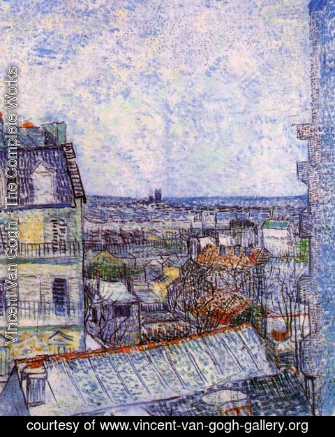 Vincent Van Gogh - View of Paris from Vincents Room in the Rue Lepic