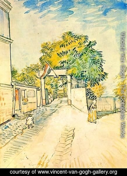 Vincent Van Gogh - The Entrance of a Belvedere