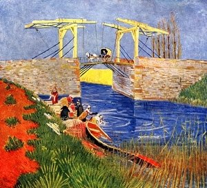 Vincent Van Gogh - The Langlois Bridge at Arles with Women Washing