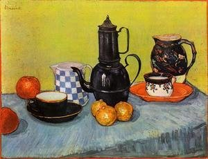 Vincent Van Gogh - Still Life: Blue Enamel Coffeepot, Earthenware and Fruit