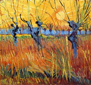 Vincent Van Gogh - Pollard Willow with Setting Sun