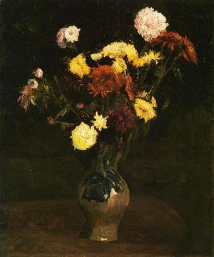 Vincent Van Gogh - Basket of Carnations and Zinnias