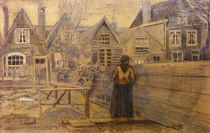 Vincent Van Gogh - Sien's Mother's House Seen from the Backyard