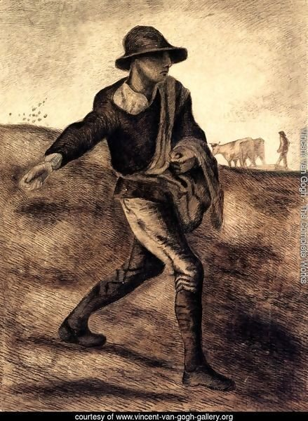 A Sower (after Millet)