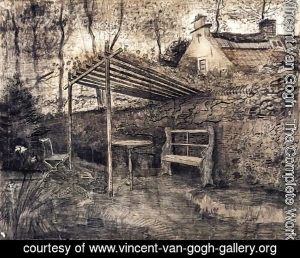 Vincent Van Gogh - The Garden of the Parsonage with Arbor