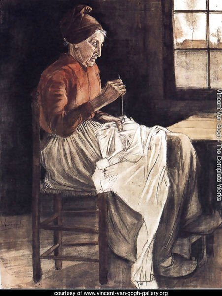 Woman Sewing 2