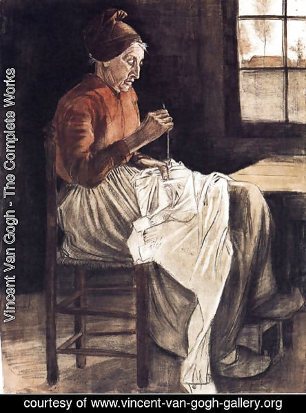 Vincent Van Gogh - Woman Sewing 2