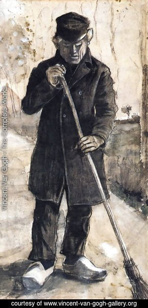 Vincent Van Gogh - A Man with a Broom