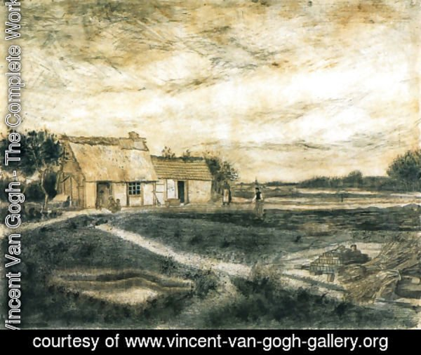 Vincent Van Gogh - Barn with Moss-Covered Roof