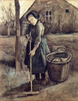 Vincent Van Gogh - A Girl Raking
