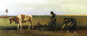 Ploughman with Woman Planting Potatoes