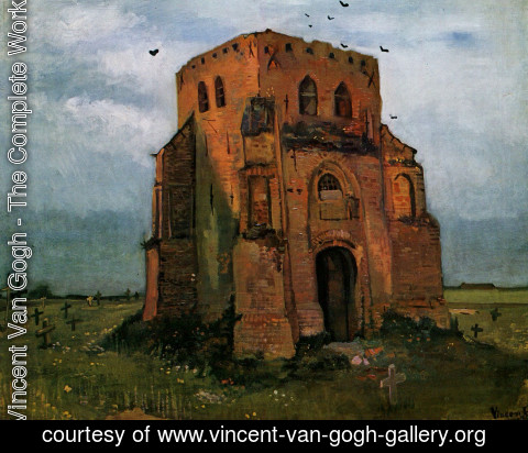 Vincent Van Gogh - Country Churchyard and Old Church Tower
