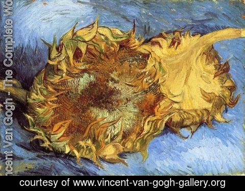 Vincent Van Gogh - Still Life with Two Sunflowers I
