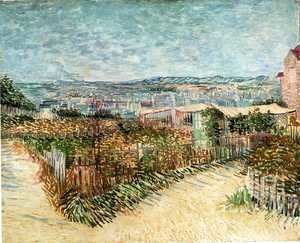 Vincent Van Gogh - Vegetable Gardens in Montmartre I