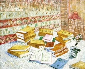 "Vincent Van Gogh - Still Life with Books, ""Romans Parisiens"""