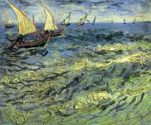 Vincent Van Gogh - Fishing Boats at Sea
