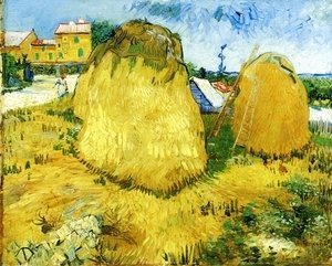 Vincent Van Gogh - Stacks of Wheat near a Farmhouse