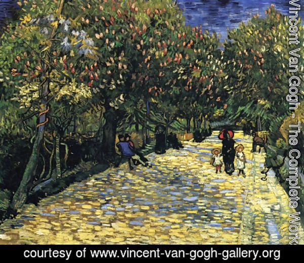 Vincent Van Gogh - Avenue with Flowering Chestnut Trees