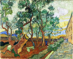 Vincent Van Gogh - The Garden of the Asylum in Saint-Remy I