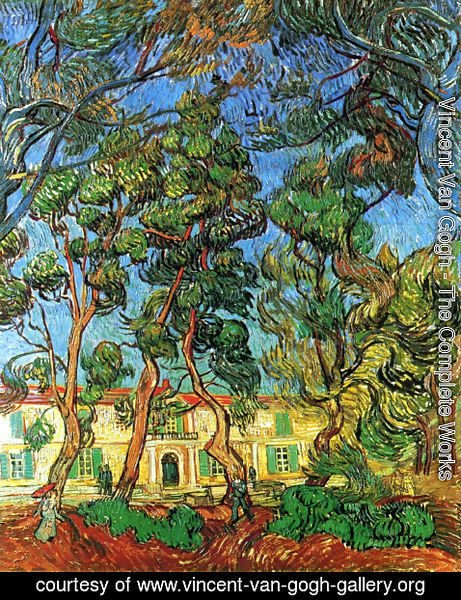 Vincent Van Gogh - The Grounds of the Asylum