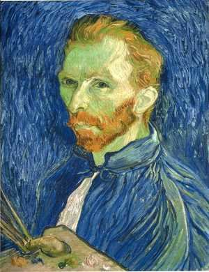 Vincent Van Gogh - Self Portrait with Pallette