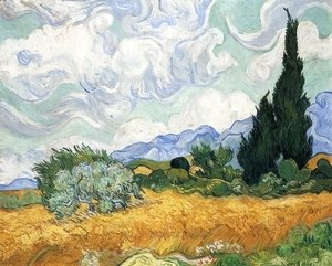 Vincent Van Gogh - Wheatfield with Cypress I