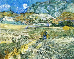 Vincent Van Gogh - Enclosed Field with Peasant