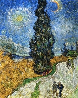 Vincent Van Gogh - Cypress against a Starry Sky