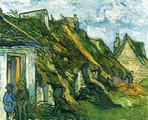 Vincent Van Gogh - Old Cottages, Chaponval