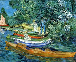 Vincent Van Gogh - Rowing Boats on the Banks of the Oise