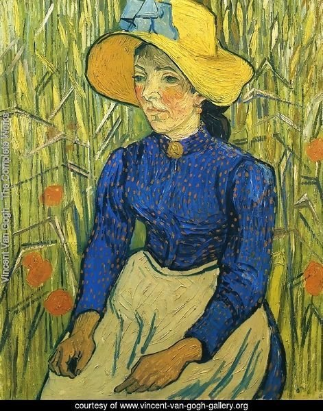 Peasant Girl with Yellow Straw Hat